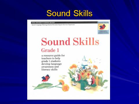 Phonemic Awareness Playing with Sounds to Strengthen
